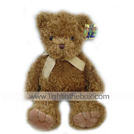 Plush Bear With Ribbon --Auburn Bear(MR012)